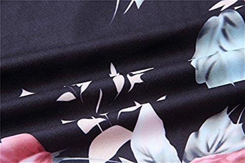 Polka Sciolto Pantaloni Baggy Di Libero Fashion Coulisse Dots Nero Giovane High Ragazze Stampa Yoga Vintage Fiore Waist Estivi Con Tempo Palazzo Donna qrq8vSY