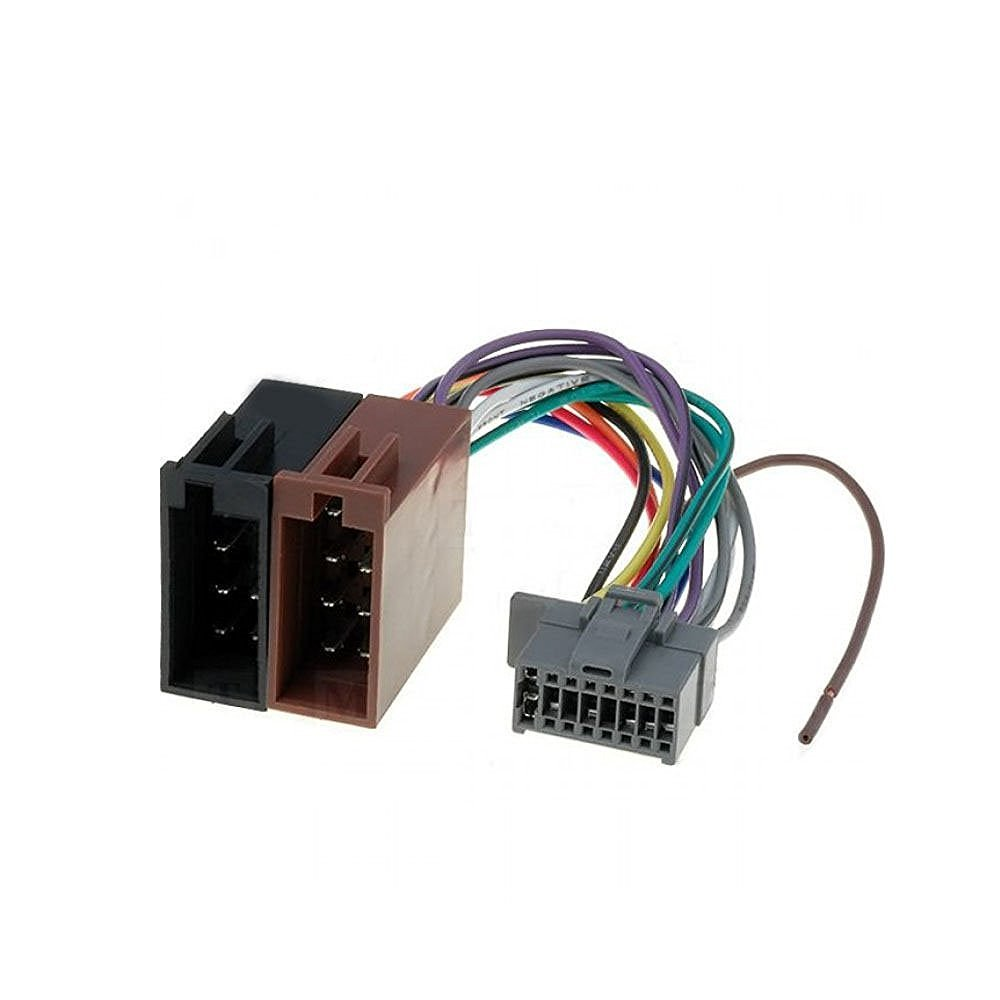 16 Pin To Iso Lead Wiring Loom Adaptor Wire Radio Pioneer 14 Harness Connector For Panasonic Car Electronics