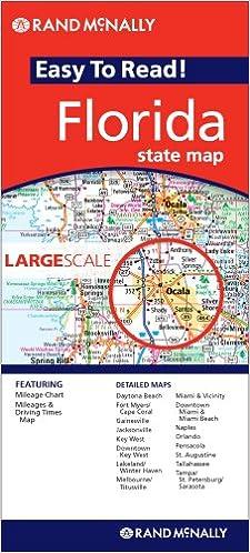Large Map Of Florida.Rand Mcnally Large Scale Map Florida 9780528869617 Amazon Com Books