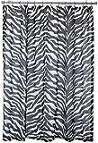 Pink Zebra Print Shower Curtain Kimlor Mills Karin Maki Zebra Shower Curtain, Black