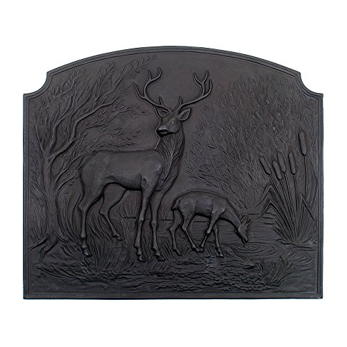 Fireplaces Century 18th (Minuteman International Deer Cast Iron Fireback)