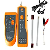 TimeOwner CHL828 Network LAN Ethernet Phone Telephone Cable Wire Tracker Tracking System & Tester Tool (Orange)
