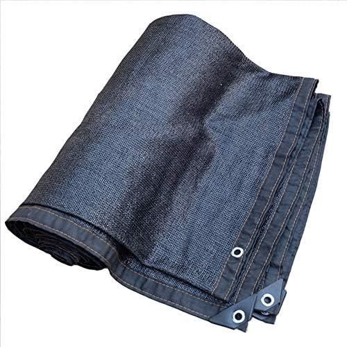 シェードセイル 90% 黒 日焼け止め 日よけ布 のために使用される 車 建物の上 温室 日焼け止め布 日除け シェード MM (Color : Black, Size : 5x6m)