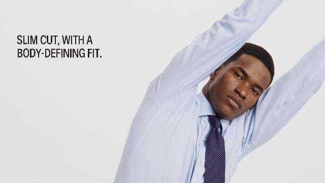 Calvin Klein Men's Dress Shirt Non Iron Stretch Slim Fit Check 7