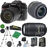 ZeeTech Ultimate Bundle for D7200 DSLR Body, 18-55mm VR Lens, AF-S DX NIKKOR 55-300mm f/4.5-5.6G ED VR, Tripod, 6pc Cleaning Set