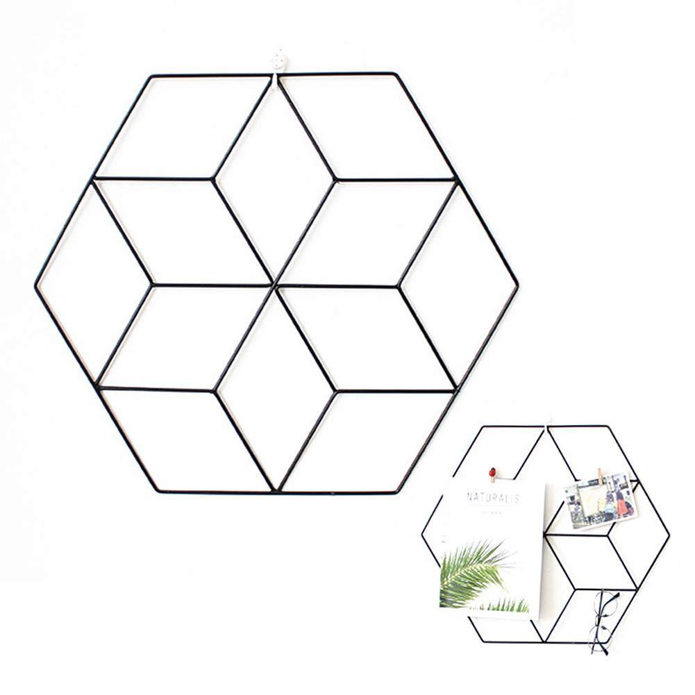 Estante de Pared Decoraci/ón de Pared Estante Creativo de Bricolaje Simple Charming lingzhuo-shop Rejilla Hexagonal de Hierro Forjado de Estilo n/órdico