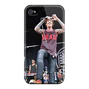 Iphone 4/4s Zzz5005jmYF Support Personal Customs High-definition Bring Me The Horizon Band Bmth Series Protector Hard Cell-phone Case -JonBradica