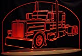 Semi Truck Pblt Acrylic Lighted Edge Lit LED Awesome 21'' Sign Light Up Plaque VVD15 Made in USA