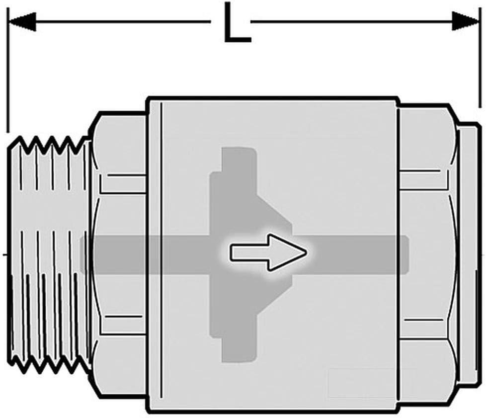 R/ückschlagventil//Schwerkraftbremse Messing 1 Zoll AG zu IG