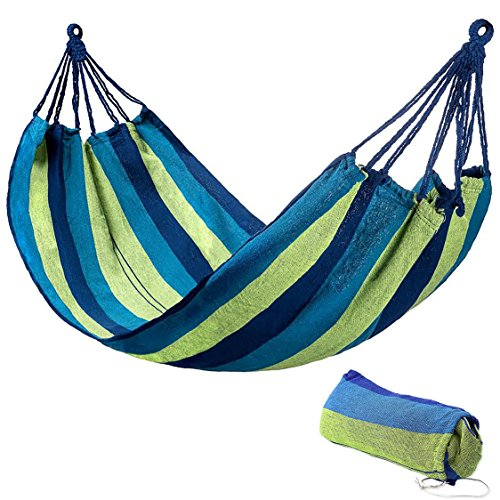 Breathable Cotton Hammock By Outdoor Obsessed   Lightweight   Portable  Hammock Bed For Indoor   Outdoor Use   Travel  Camping  Backpacking  Hiking  Beach  Vacation  Siesta   Yard  Porch  Patio Swing