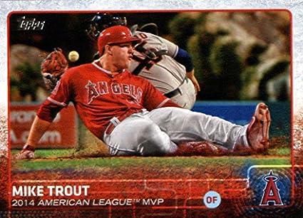 Amazoncom 2015 Topps Baseball Card 510 Mike Trout Mint