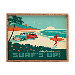 Deny Designs Anderson Design Group Surfs Up Indoor/Outdoor Rectangular Tray, 17 x 22.5