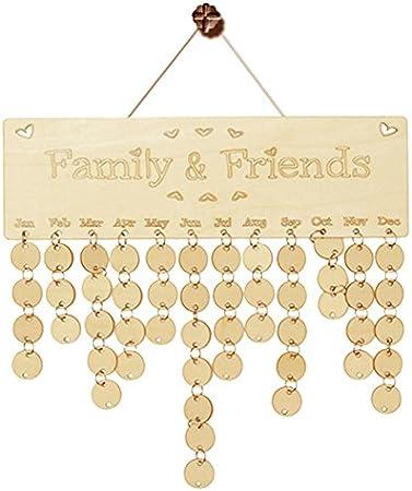 kalender geburtstag an bord freunde der familie sondertermine planer holz