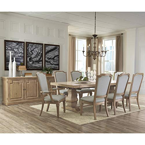 - A Line Furniture Vintage 18th Century French Neoclassic Design Dining Set with Matching Buffet Server 10-Piece Sets