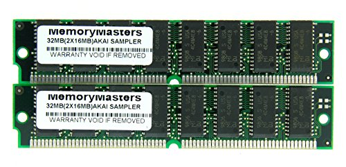 32MB 2x16MB SIMM Memory for Akai Sampler MPC2000 MPC2000XL MPC 2000XL S2000 S3000XL CD3000XL S300XL RAM by MemoryMasters