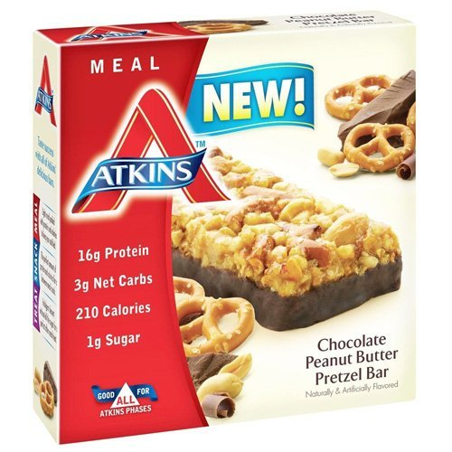 Atkins Advantage Peanut (Atkins Advantage Bar, Chocolate Peanut Butter Pretzel, 1.7 Ounce)