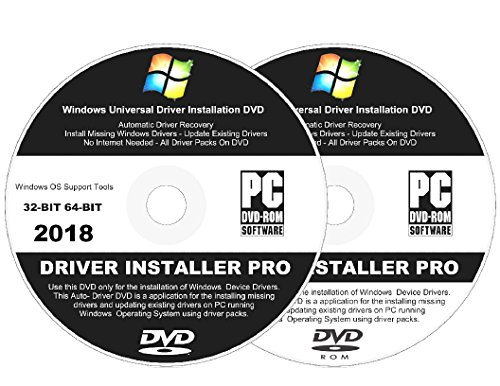 Windows Vista Installation Dvd - 2018 Automatic Driver Installation For Windows 10, 8.1, 7, Vista and XP. Supports Asus, HP, Dell, Gateway, Toshiba, Gateway, Acer, Samsung, MSI, Lenovo, Asus, IBM, Compaq - 2 Disc DVD Set