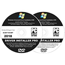 2018 Automatic Driver Installation For Windows 10, 8.1, 7, Vista and XP. Supports Asus, HP, Dell, Gateway, Toshiba, Gateway, Acer, Samsung, MSI, Lenovo, Asus, IBM, Compaq - 2 Disc DVD Set