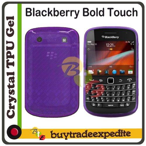 Blackberry Bold Touch 9900/ 9930 TPU Rubber Case - Purle Checker