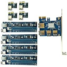 Qjoy PCIe 1 to 4PCI Express 16X slots Riser Card PCI-E 1X to External 4 PCI-e slot Adapter PCIe Port Multiplier Card