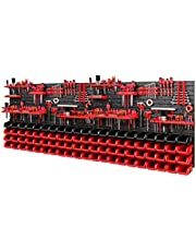 Gereedschapswand opslagsysteem 2308 x 780 mm - set gereedschapshouders en 88 stuks stapelboxen - wandrek werkplaatsrek gatenwand opbergkast