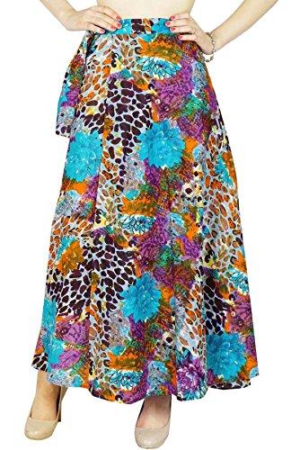 Phagun rversible Robe Coton magique Wrap Jupe longue Sari Sarong Multicolore