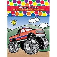 ¡Haz un Dot Art DADB375! Actividad creativa y libro para colorear de Mighty Trucks