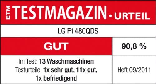 LG F1480QDS Independiente Carga frontal 7kg 1400RPM A+++ Blanco ...