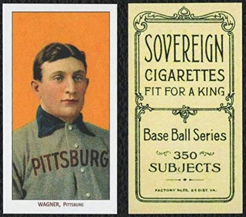 HONUS WAGNER 1909 T206 Cigarette SOVEREIGN Back REPRINT - Baseball Card ()
