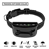 Trade Paw New Version Upgraded 2018 Dog Training Anti Bark Control Adjustable Collar Rechargeable Rainproof Beep/Vibration/Shock S/M/L 10lbs-120lbs