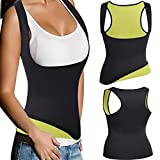 FOMANSH Neoprene Waist Trainer Corset Vest For Weight Loss Sauna Suits Tummy Control Shapewear Hot Sweat Slimming Vest Shaper(Medium, Sweat pants) …