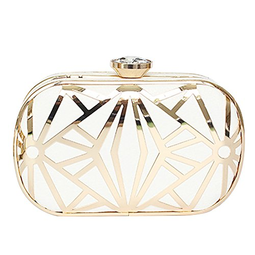 YYW Evening Bag - Cartera de mano para mujer blanco