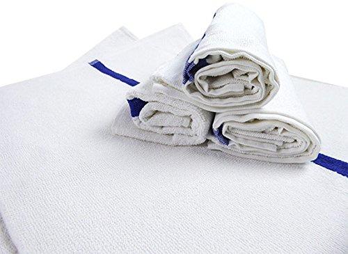 RagLady Economy Striped Pool/Bath Towels - 22'' x 44'' - Case of 60 by RagLady (Image #2)