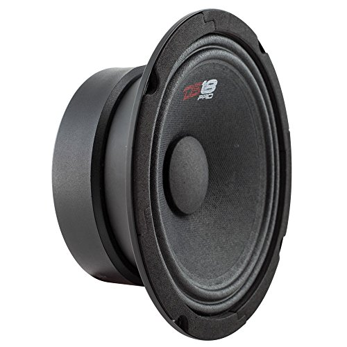 "DS18 PRO-GM6SE Loudspeaker - 6.5"", Midrange, Sealed Back, 480W Max, 140W RMS, 8 Ohms - Premium Quality Audio Door Speakers for Car or Truck Stereo Sound System (1 Speaker)"