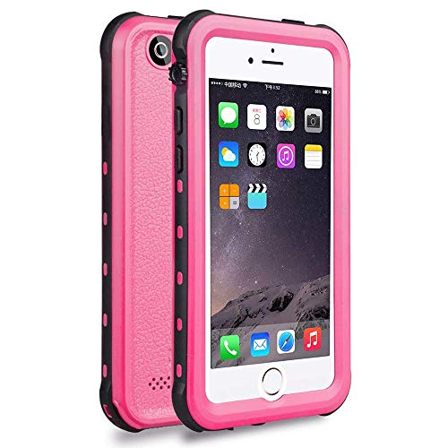 iPhone 5S / SE Best Waterproof Case, Waterproof Dust Proof Snow Proof Shock Proof Case with Touched Transparent Screen Protector, Heavy Duty Protective Carrying Cover Case for iPhone 5 5s SE(T-Pink)