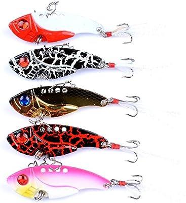Pesca señuelos Metal VIB duro Spinner Blade Cebos con plumas para ...