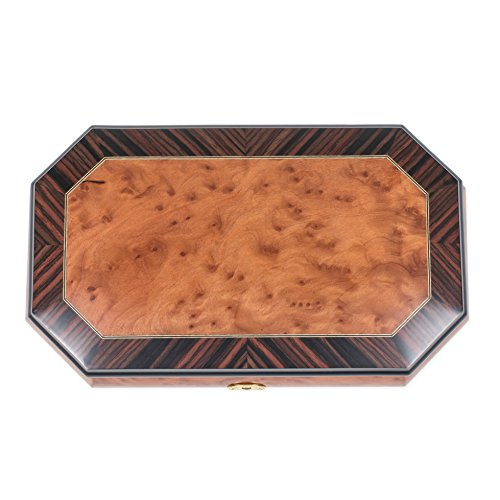 Two Wood Italian Hand Crafted Inlay Trunk Style Music Box Plays Magic Flute by Splendid Music Box Co. (Image #2)