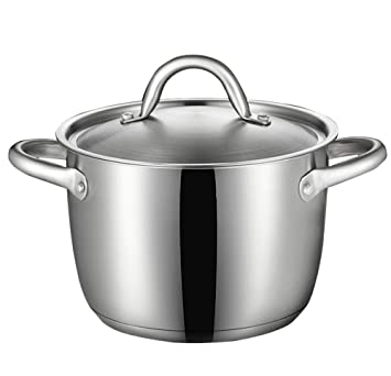 ZN-pot Grande Olla de Cocina Acero Inoxidable Olla de Sopa ...