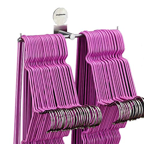 (simpletome Clothes Hanger Storage Rack Organizer Wall Mount Adhesive OR Drilling Installation)