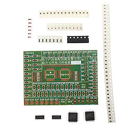 LaDicha Diy Electronic Smd Componentes Soldadura Kit De Placa De Práctica Para El Entrenamiento: Amazon.es: Hogar