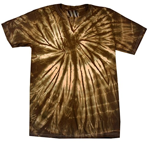Colortone Tie Dye T-Shirt XL Spider (Youth Chocolate)
