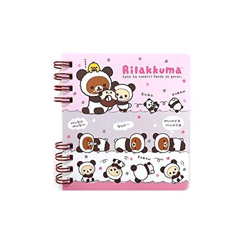 San-x Panda Costume Rilakkuma Mini Spiral Notebook Note Pad (donut)