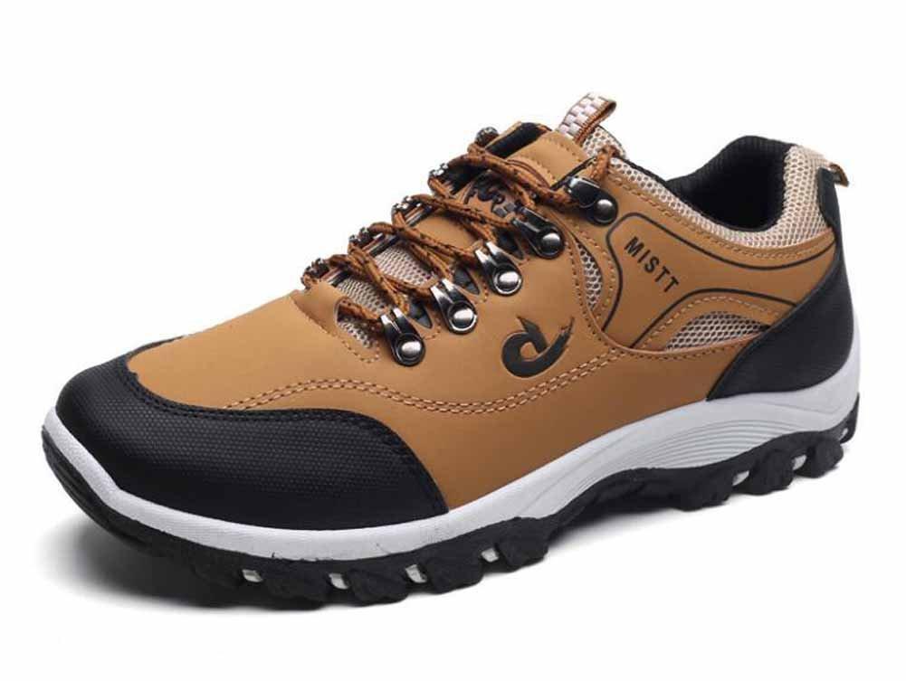Hombres Transpirable Zapatos De Escalada Otoño Invierno Nuevos Deportes Zapatos Impermeable Antideslizante Zapatos Ocasionales Al Aire Libre ( Color : Yellow , Size : 43 ) 43|Yellow