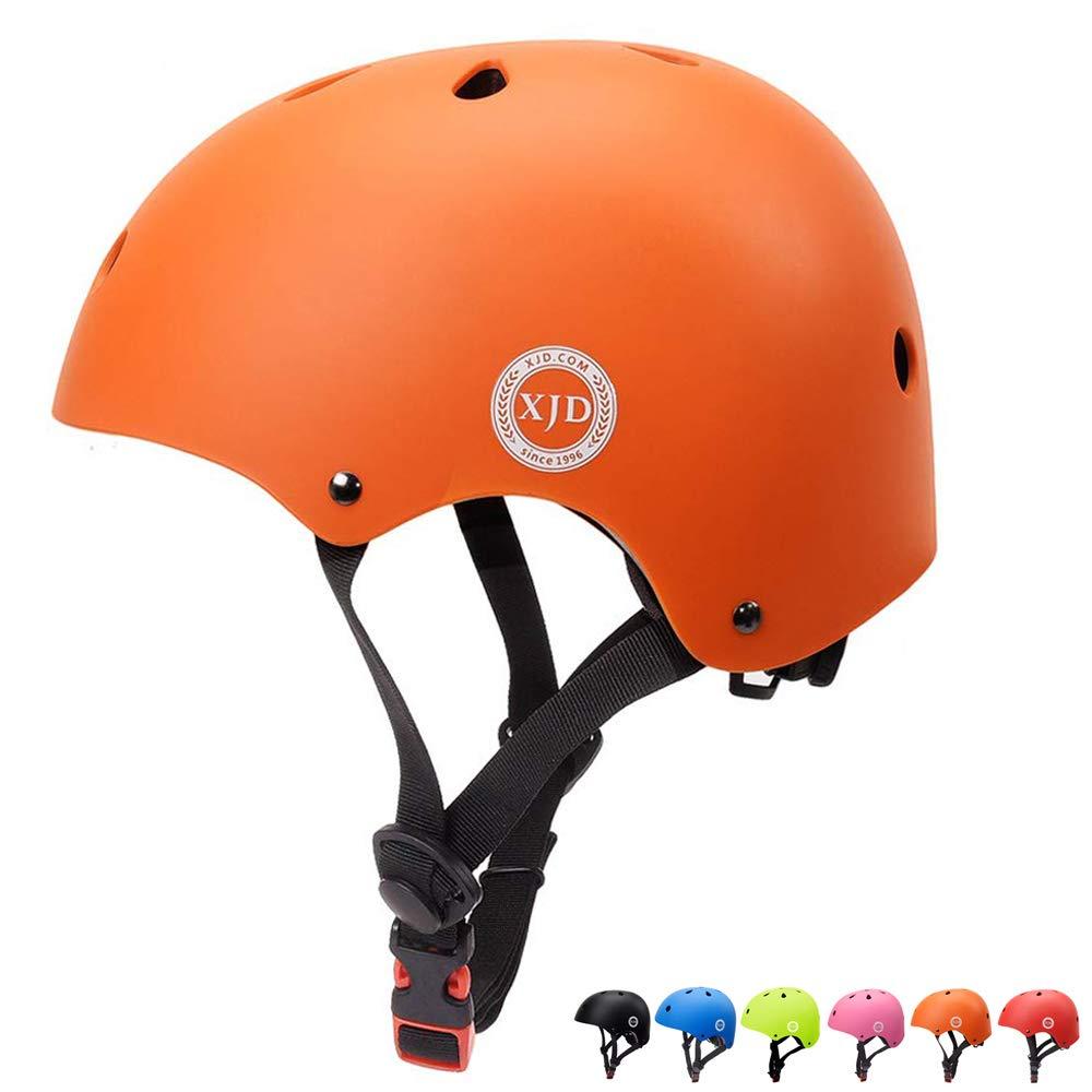 XJD Kids Bike Helmet Toddler Helmet Adjustable Kids Helmet CPSC Certified Ages 3-8 Years Old Boys Girls Multi-Sport Safety Cycling Skating Scooter Helmet (Orange)