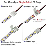 2 Pin 10mm LED Strip Light Connectors,FSJEE 10PCS