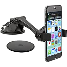 Arkon Windshield or Dash Smartphone Car Mount for Apple iPhone 6 Plus/6/5/5S/5C, Samsung Galaxy Note/4/3/S5/S4/Fire