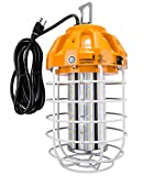 Hyperikon 60W LED Temporary Work Light Fixture, 7200 Lumens, Orange Construction Drop Light, LED High Bay Lighting, UL IP65 Waterproof, 5000K