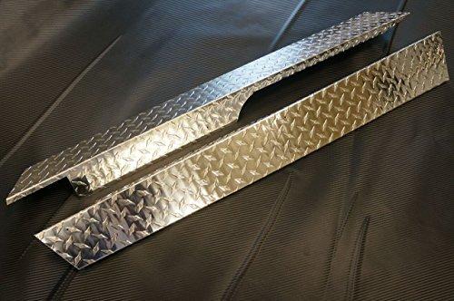 Club Car Precedent Golf Cart Rocker Panels - Polished Aluminum Diamond (Polished Aluminum Golf)