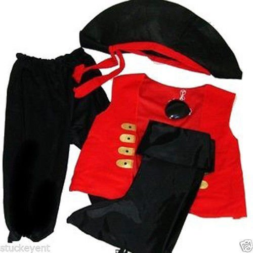[Pirate Costume Ages 4-8 Years] (Pirate Costumes Boot Covers)