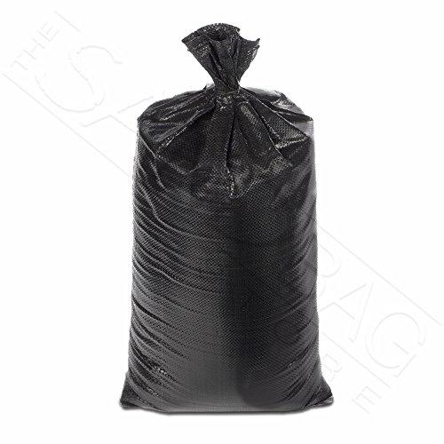 The Sandbag Store - HD Sandbags 10 Pack Black 4000 UV HR 14x26 Polypropylene with Ties